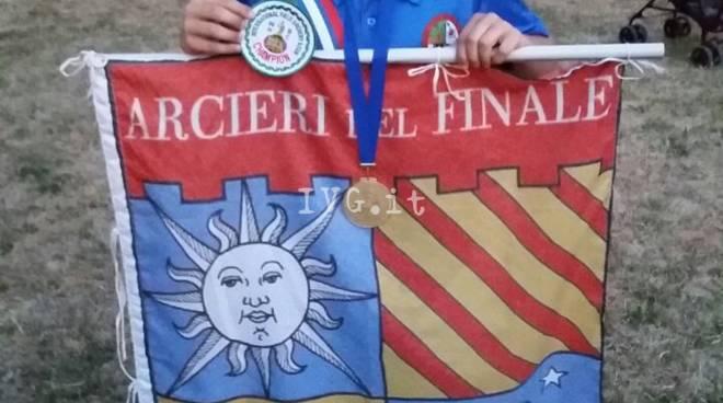 NIVINO MORGAN degli Arcieri del Finale Campione del Mondo a Firenze