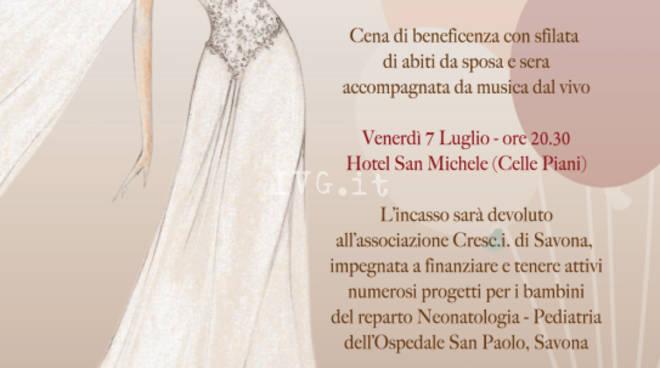 \'Cena dei palloncini\' - Cena di beneficenza e sfilata di abiti da sposa e sera a cura di Marina e Monica spose