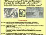 Commemorazione Eccidio Frasce Calice Ligure ANPI