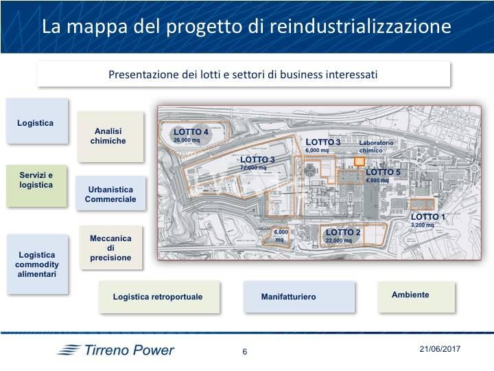demolizione ciminiera Tirreno Power