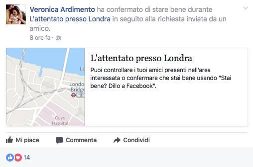 Veronica Ardimento, testimonianza attentato terroristico a Londra