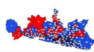 mappa voto ballottaggio