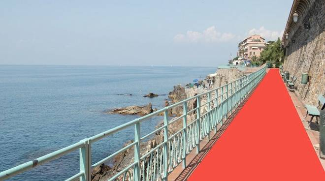red carpet nervi fotomontaggio