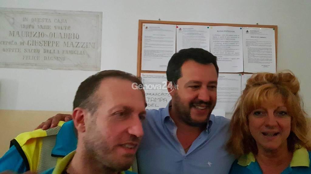 Salvini a Genova per il ballottaggio