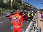 Scontro tra auto sulla via Aurelia a Borgio