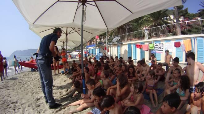 Alassio Polizia di Stato Bagni Maria Ausiliatrice educazione legalità