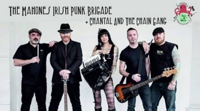 Sabato sera a Savona quarto appuntamento del Riviera Jazz & Blues Festival:  THE MAHONES – Irish Punk Brigade + Chantal and The Chain Gang