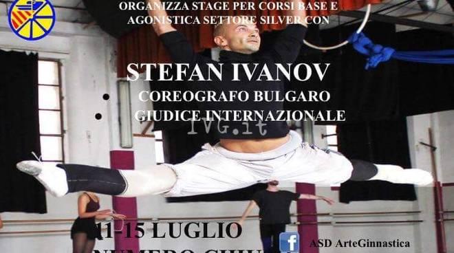 il coreografo Stefan Ivano a Finale per l\' ArteGinnastica