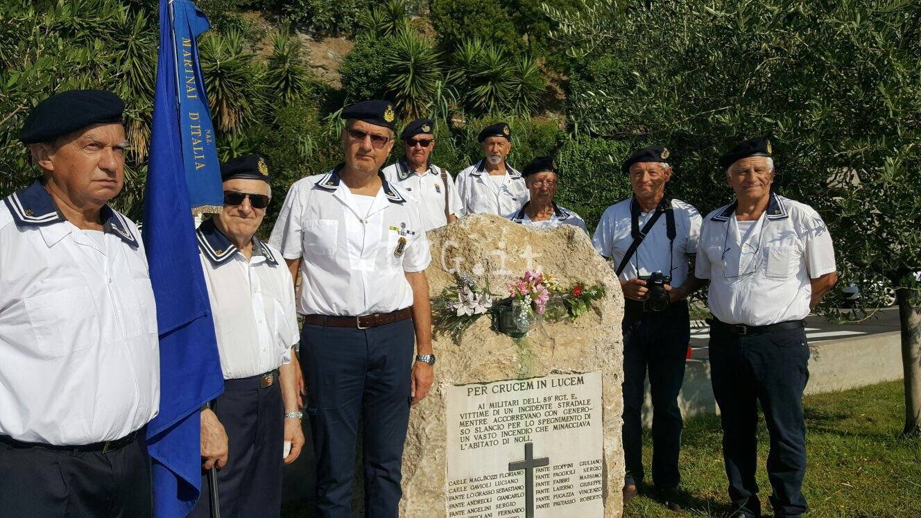 Commemorazione militari morti nell'incidente del 1967 a Noli