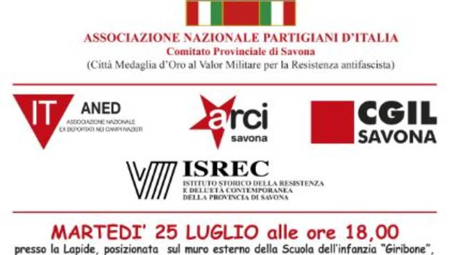 Commemorazione partigiane Savona Fornaci