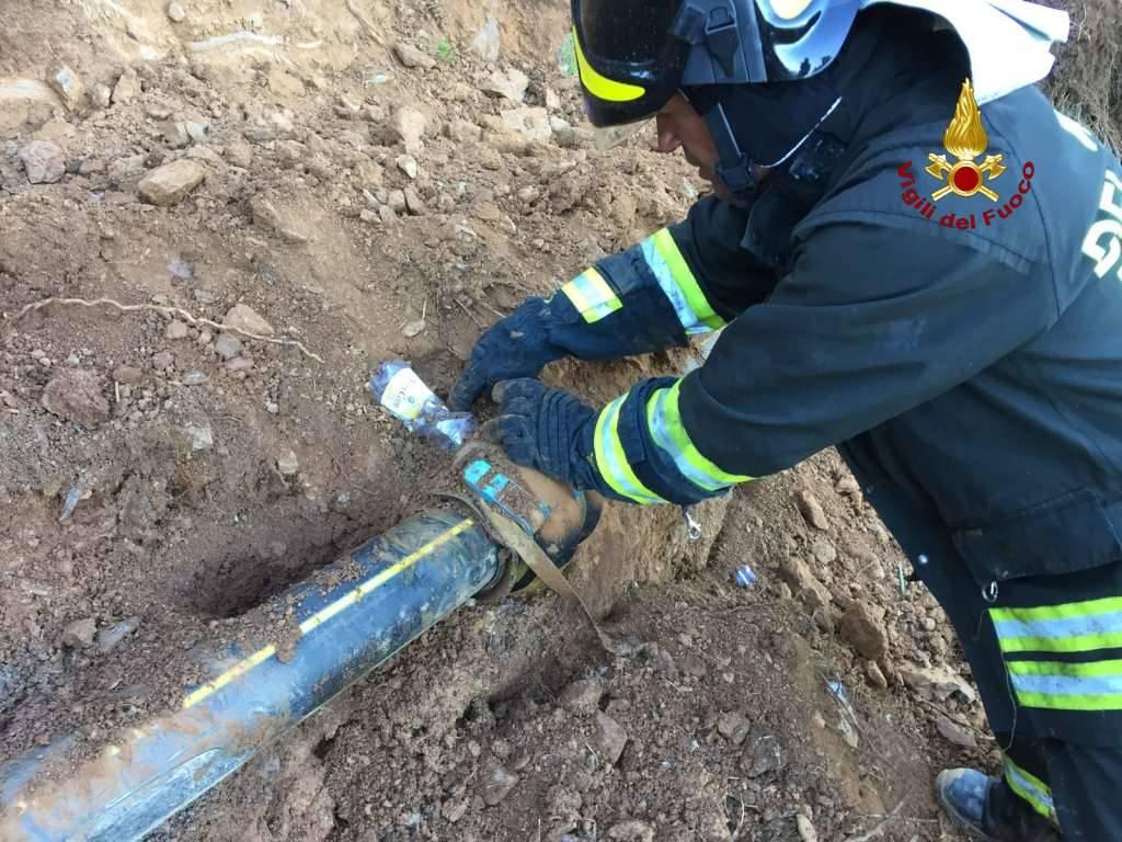 Fuga di gas a Vesima: l'intervento dei vigili del fuoco