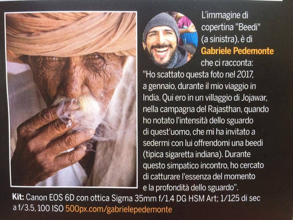 Gabriele Pedemonte, la sua foto sulla copertina della rivista fotografica