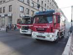 Incendio bus via brigate partigiane