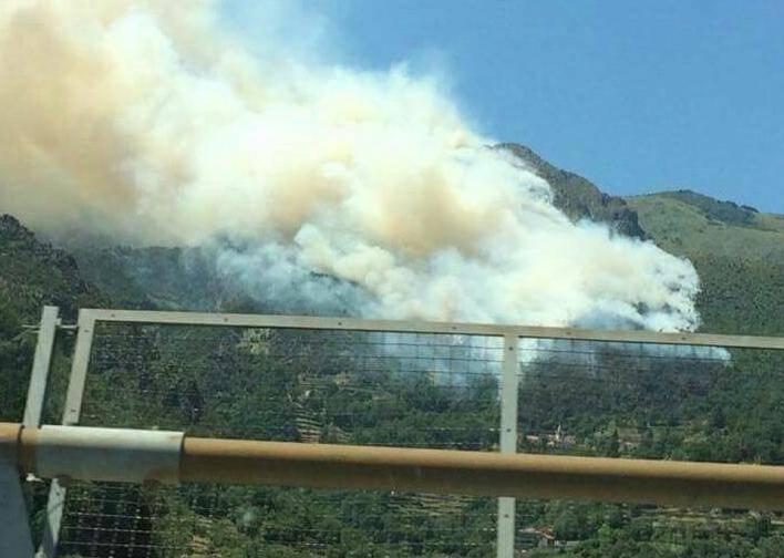 incendio vesima arenzano