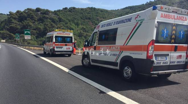 Incidente galleria Montegrosso autostrada A10