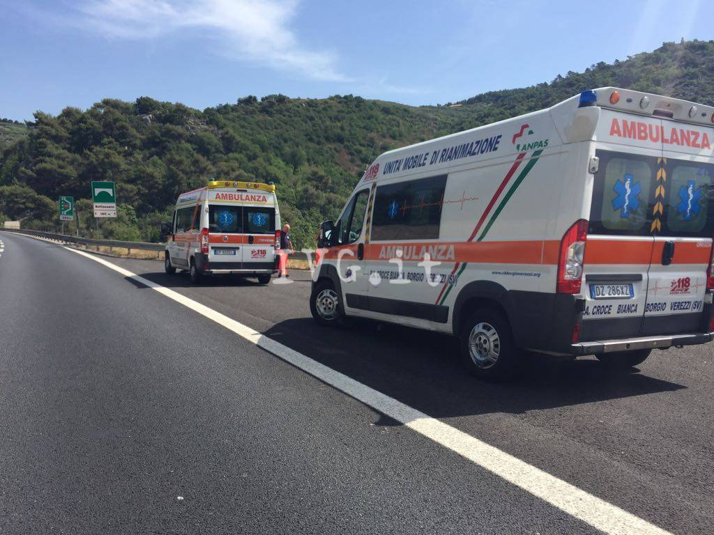 Incidente galleria Montegrosso autostrada A10