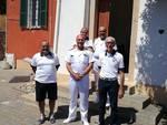 L'ammiraglio Giorgio Lazio in visita al faro di Capo Mele