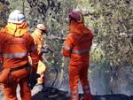 Loano incendio boschivo località Morteo