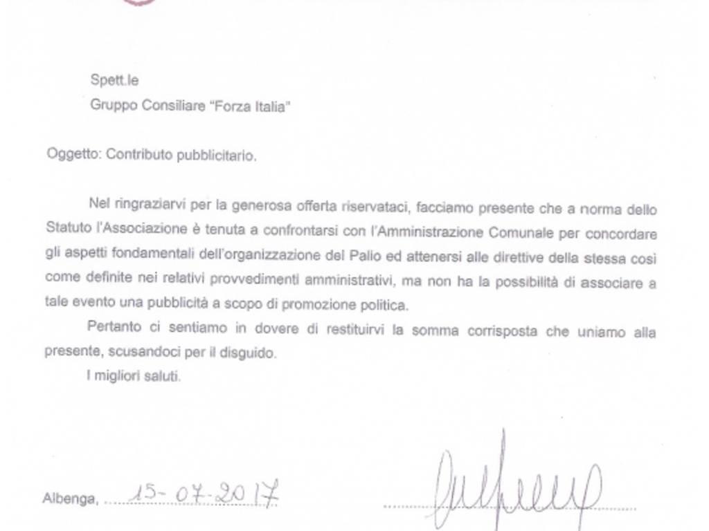 Palio dei Rioni Forza Italia Albenga