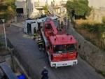 camion nettezza urbana ribaltato