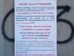 cartelli cinghiali morti via olivari oregina