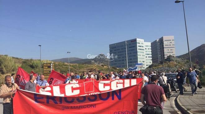 Ericsson, sciopero solidale agli Erzelli