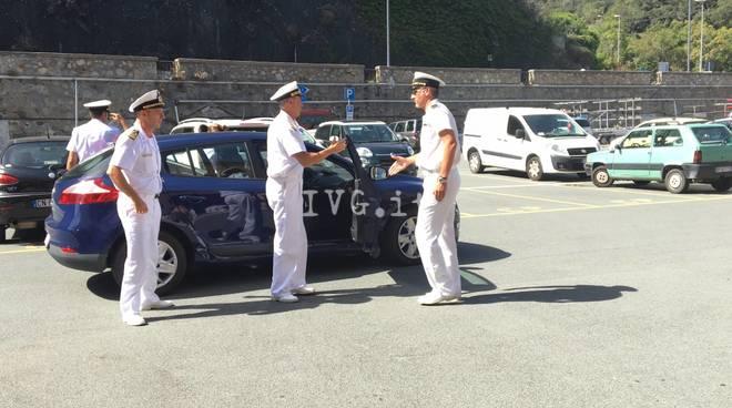 L'ammiraglio Pettorino in visita a Savona