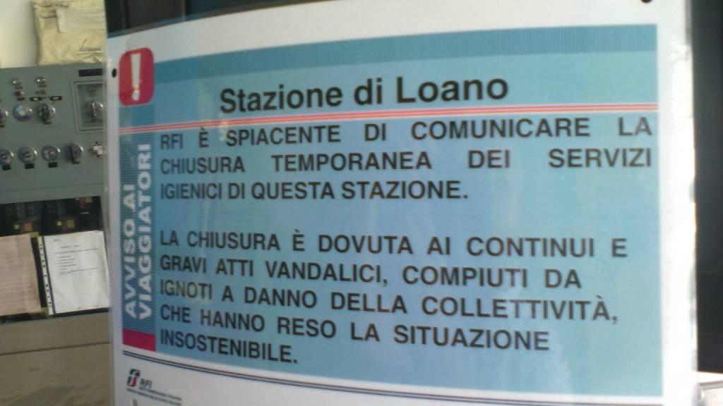Loano bagni chiusi stazione