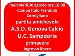 Logo amichevole Genova Calcio-Sampdoria Primavera