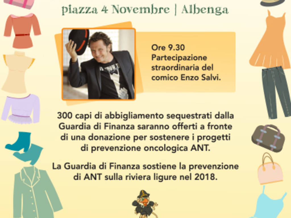 Merce contraffatta donazione Guardia di Finanza Albenga