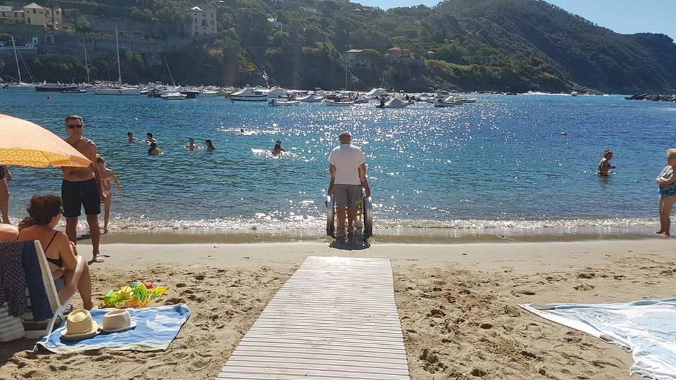 spiaggia disabili sestri levante