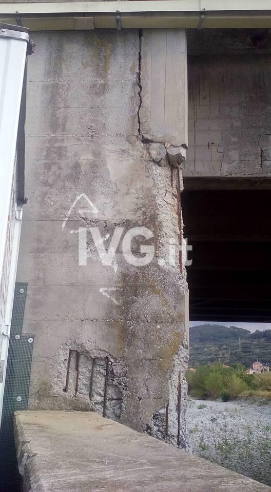 Albisola, le condizioni del ponte della A10 sopra il Sansobbia