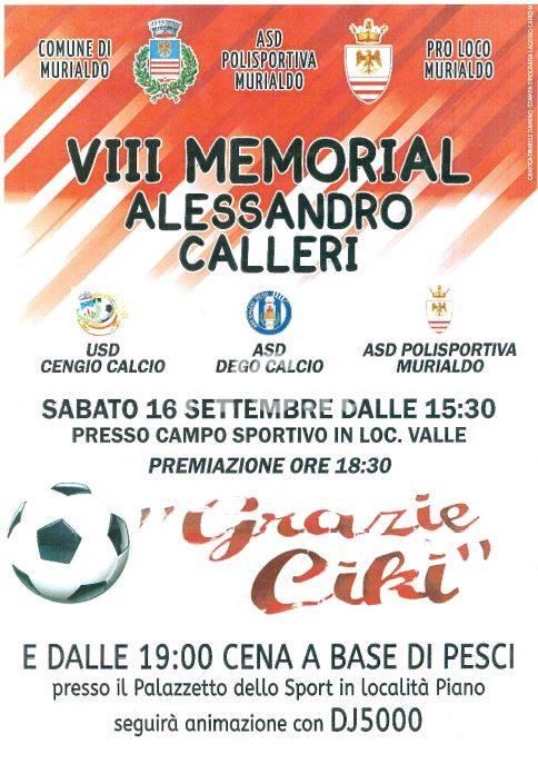 VIII memorial Alessandro Calleri