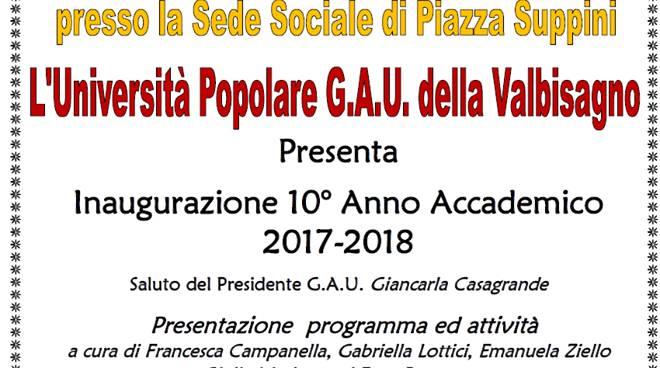 Inaugurazione 10° Anno Accademico Università Popolare G.A.U.