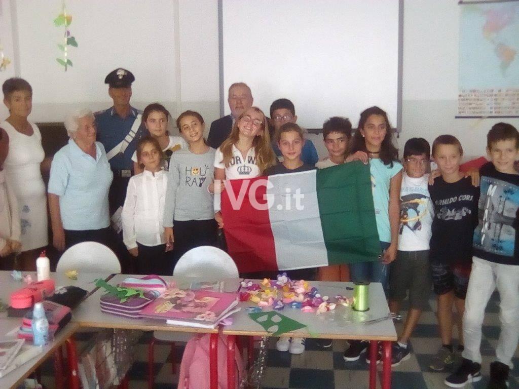 Service del Tricolore nelle Scuole Elementari di Noli e Spotorno oggi