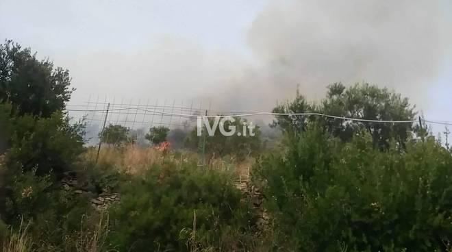 Incendio al Trabocchetto a Pietra Ligure