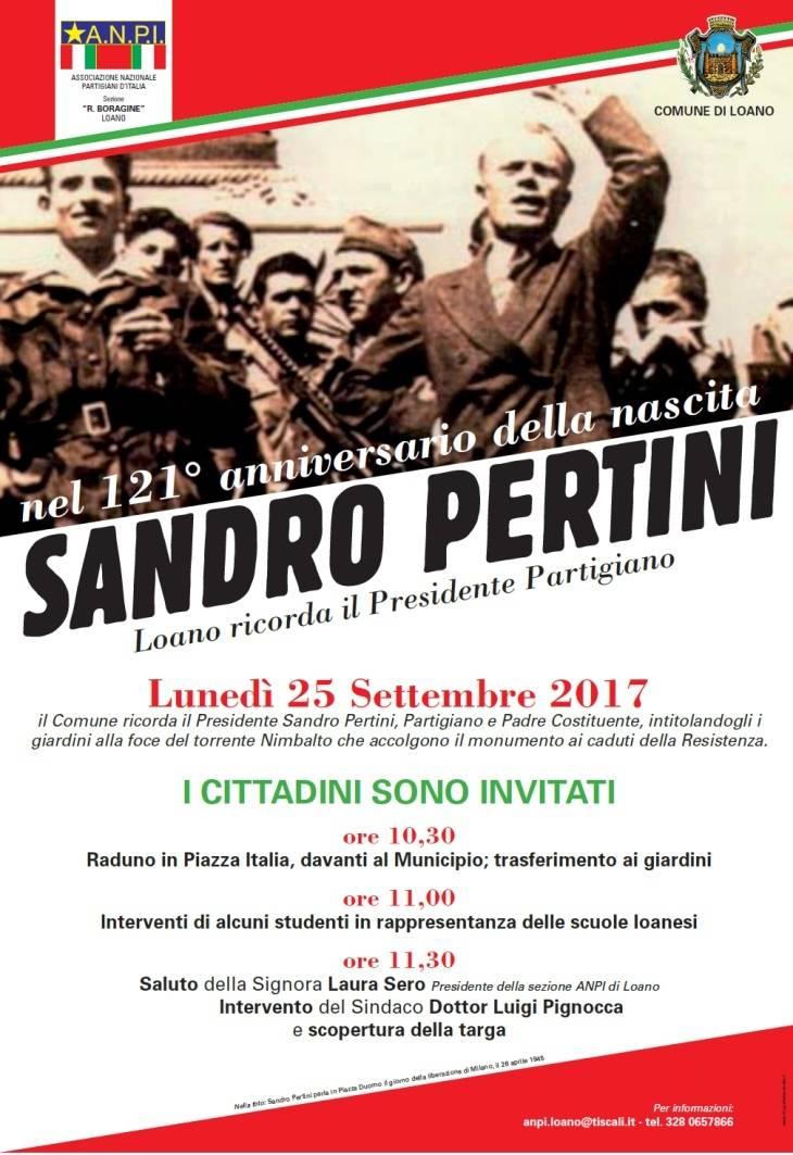Loano giardini Monumento Caduti intitolazione Sandro Pertini