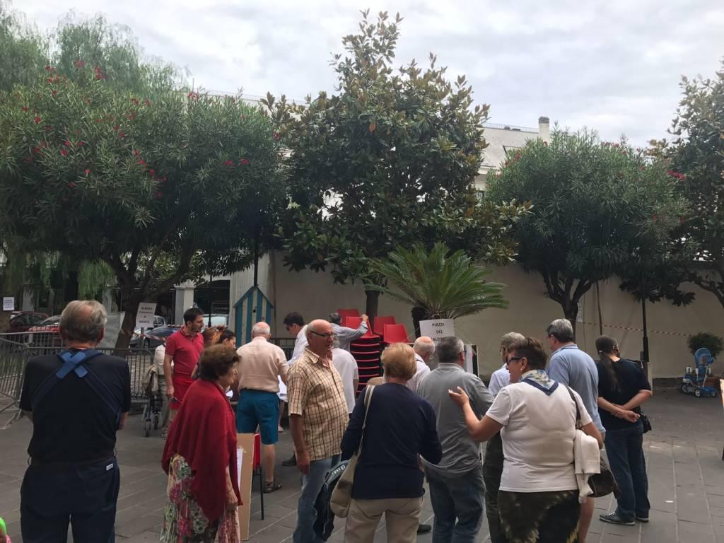 protesta piazza vittorio emanuele