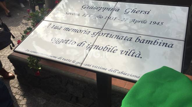 Targa in memoria di Giuseppina Ghersi