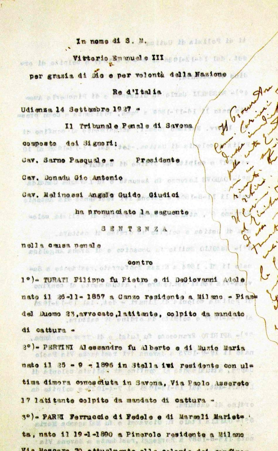 A 90 anni dal Processo di Savona Incontro Libreria Ubik