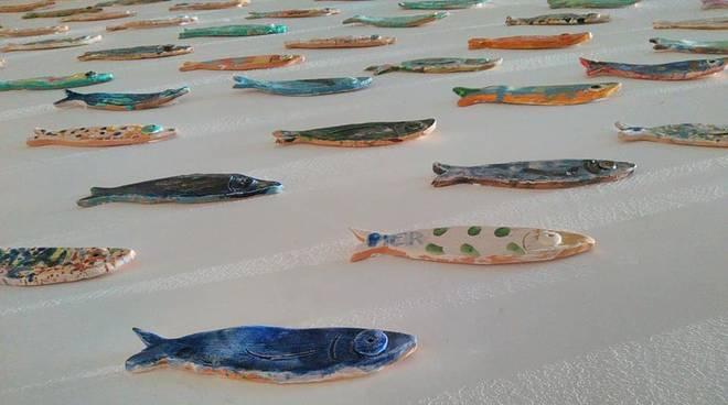 acciughe colorate ceramica noli