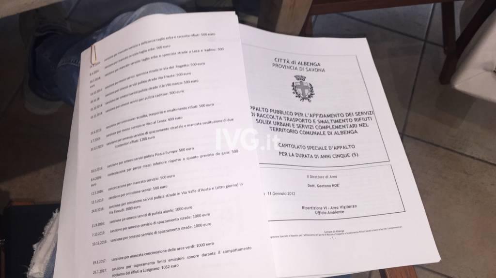 albenga dossier fascicolo teknoservice ciangherotti guarnieri perrone
