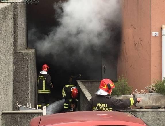 box incendio borzoli vigili del fuoco