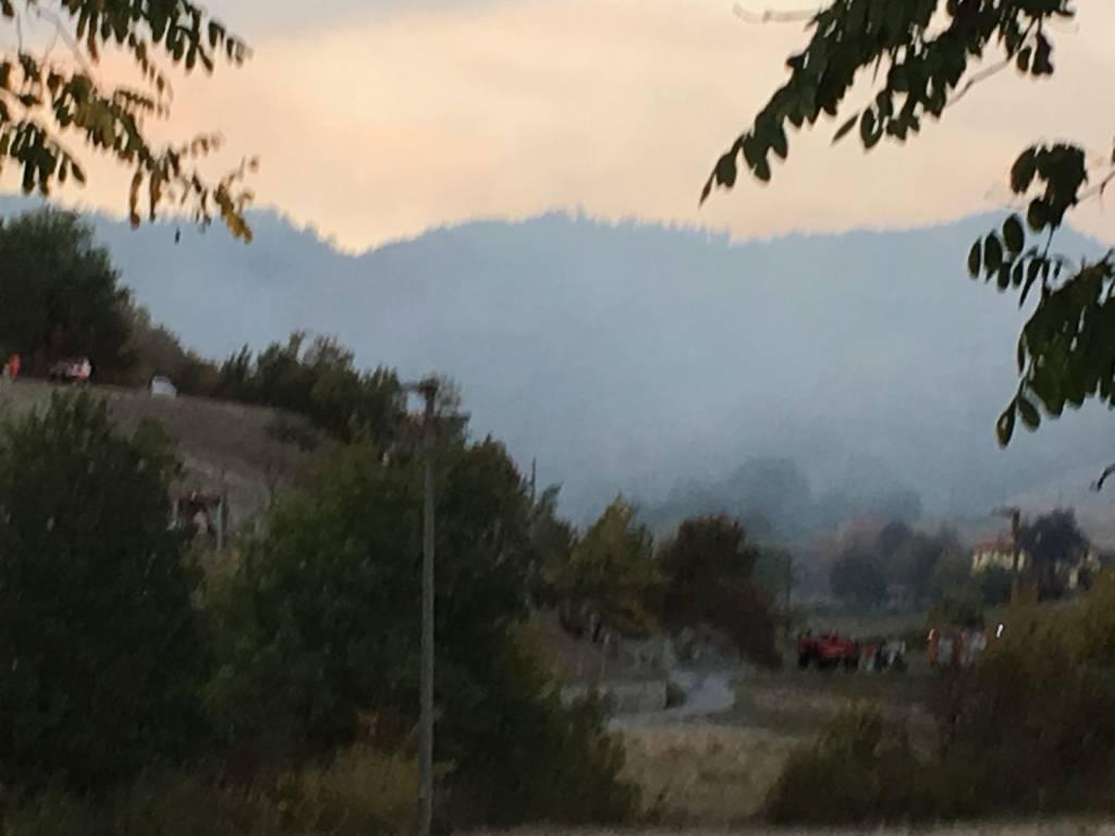 Cairo Montenotte, incendio boschivo in località Ville