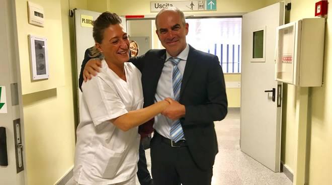 Cangiano e caposala Ortopedia Albenga