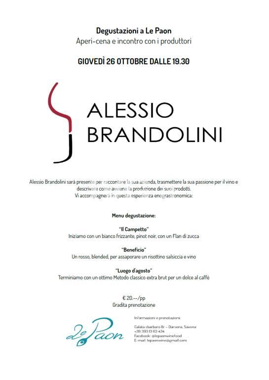 Degustazione con il produttore Alessio Brandolinj