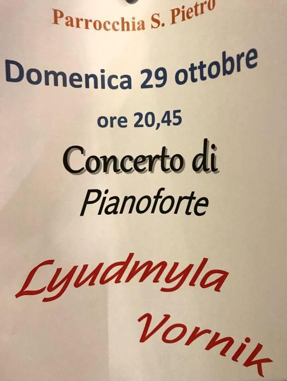 Concerto Pianoforte Lyudmyla Vornik San Pietro Savona