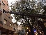 Fumo da un appartamento di viale Martiri ad Albenga