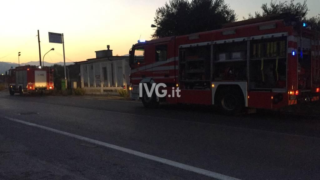 Incendio a Lusignano d'Albenga