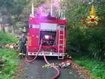 incendio magazzino cogorno